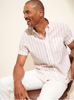 Untucked Relaxed-Fit Linen-Cotton Shirt