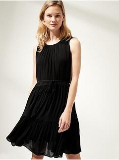 Petite Tiered Mini Dress