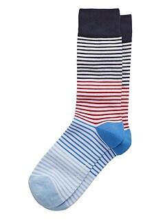Blocked Feeder Stripe Sock