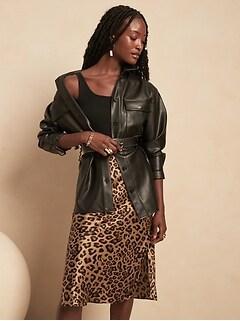 Bias-Cut Silk Midi Skirt