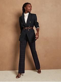 Trouser-Fit Washable Wool-Blend Pant