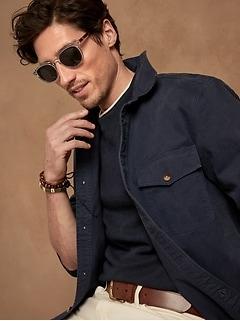 Double-Knit Long-Sleeve T-Shirt