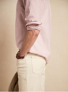 Chemise Oxford, coupe standard, se porte à l'extérieur du pantalon