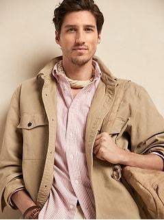 Veste-chemise en sergé de coton biologique