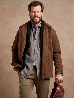 Chemise en flanelle, coupe standard à porter sortie.