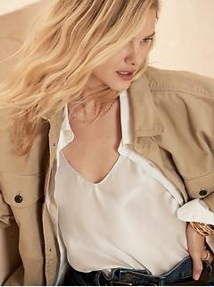 Bias-Cut Silk Camisole