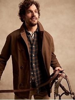 Untucked Standard-Fit Double-Weave Shirt