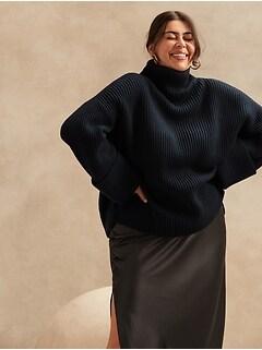 Petite Oversized Merino-Cashmere Sweater