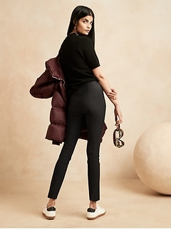 Pantalon de performance pliable, taille haute, coupe moulante