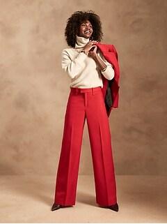 High-Rise Wide-Leg Italian Wool Pant