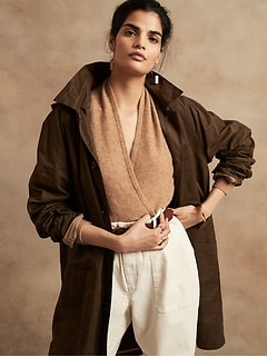 Aire Wrap-Front Sweater