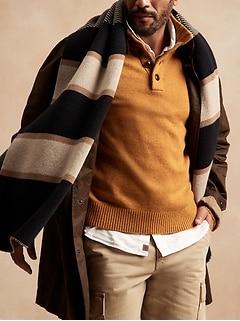 Italian Wool-Blend Mock-Neck Sweater