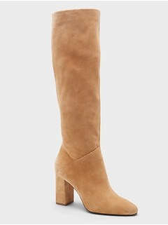 Tall Suede Slouchy Boot