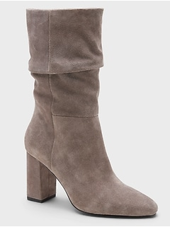 Midshaft Suede Slouchy Boot