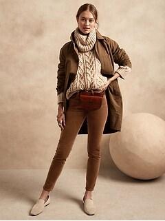 Mid-Rise Skinny Stretch-Corduroy Pant