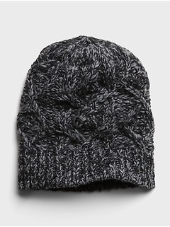 Italian Wool-Blend Cable-Knit Beanie