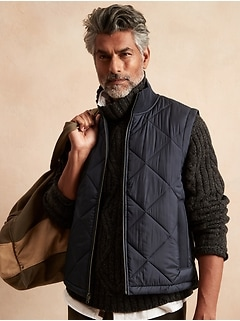 Quilted French Terry Vest