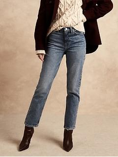 High-Rise Straight Organic Jean