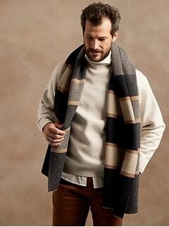 Double-Knit Mock-Neck Sweatshirt