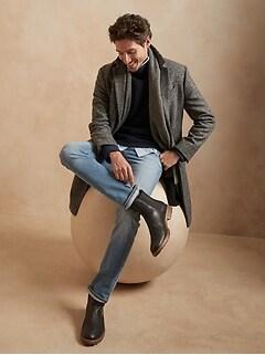 Jean en coton biologique, coupe étroite