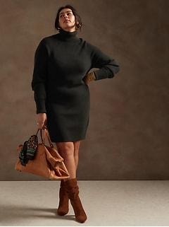Turtleneck Sweater Dress in Responsible Wool