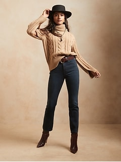 High-Rise Boot Cropped Jean