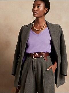 Seamless Merino V-Neck Sweater in Responsible Wool