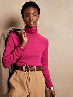 Seamless Merino Turtleneck Sweater in Responsible Wool