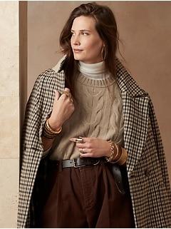 Italian Merino Cable-Knit Sweater